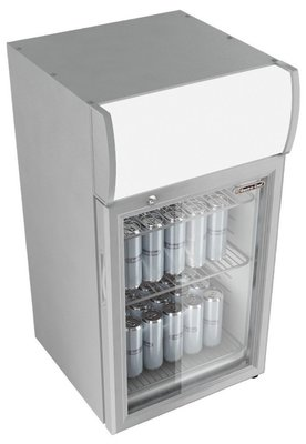 Gastro Cool GCDC50 zilver display koelkast (57 liter)