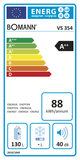 Bomann VS 354 geel A++ koelkast (130 liter)