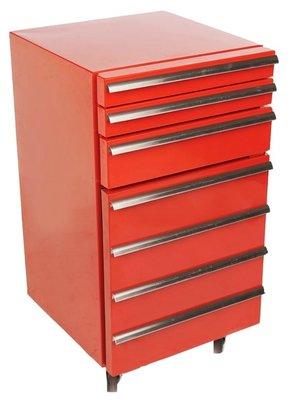 Gastro Cool GCCT50-3R rood werkplaats koelkast (50 liter)